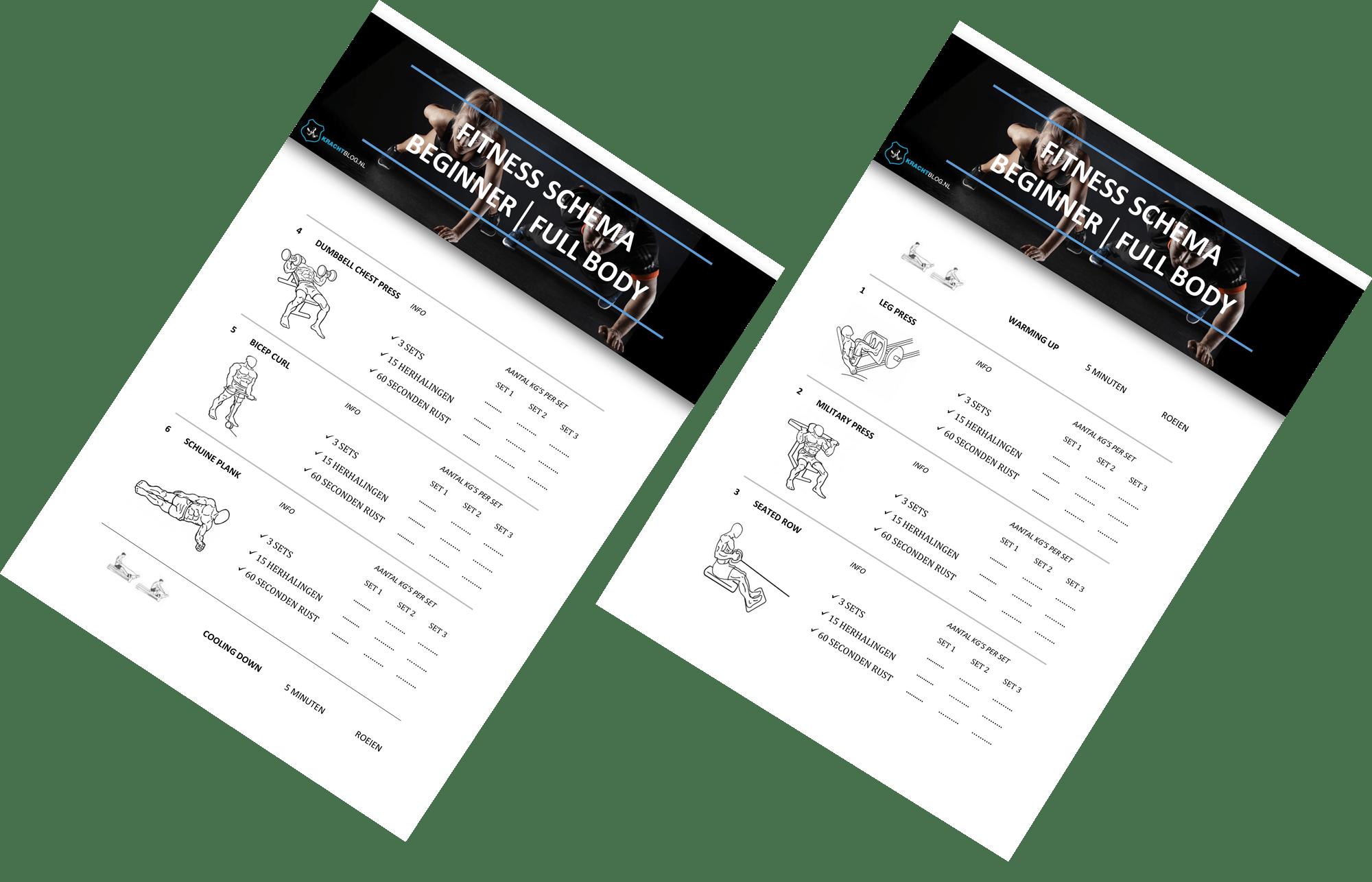 Fitness Schema Beginner Full Body